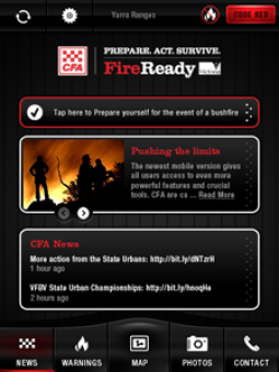 CFA FireReady app